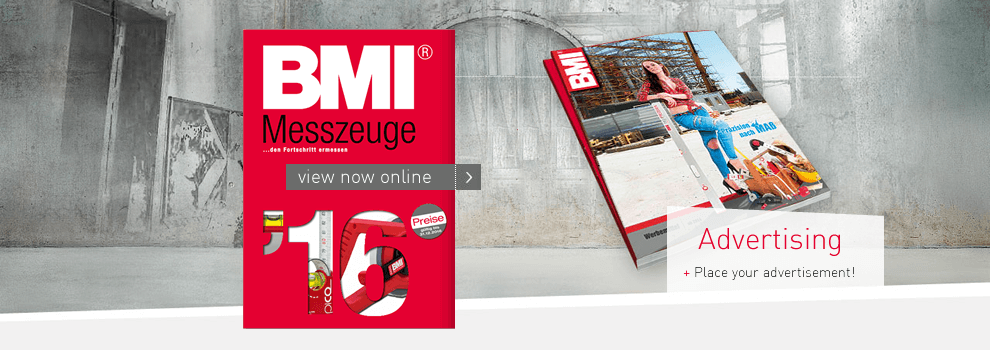 go to the new catalog of BMI products and advertising