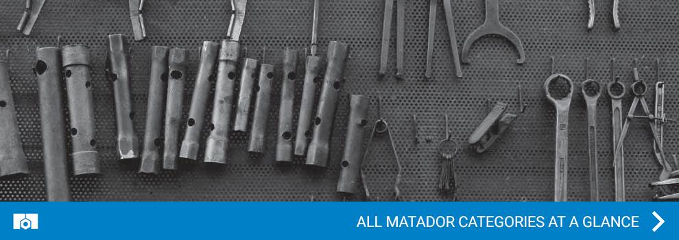 All Matador categories at a glance