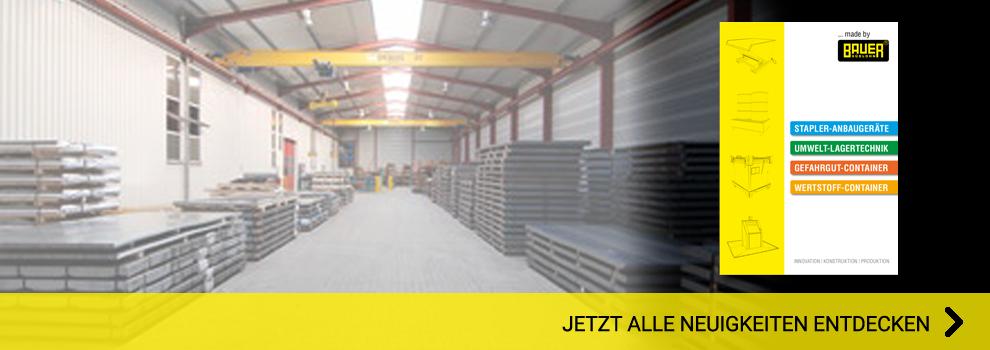 Bauer Katalog Lagertechnik