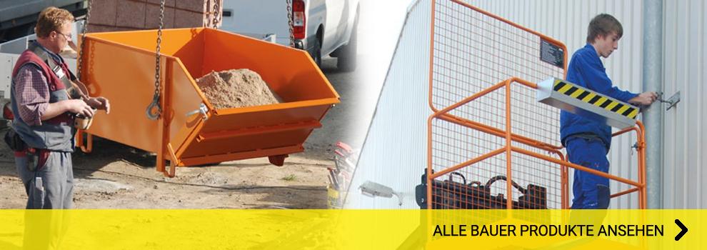 Bauer Produkte ansehen Arbeitsbühnen Spänebehälter Container