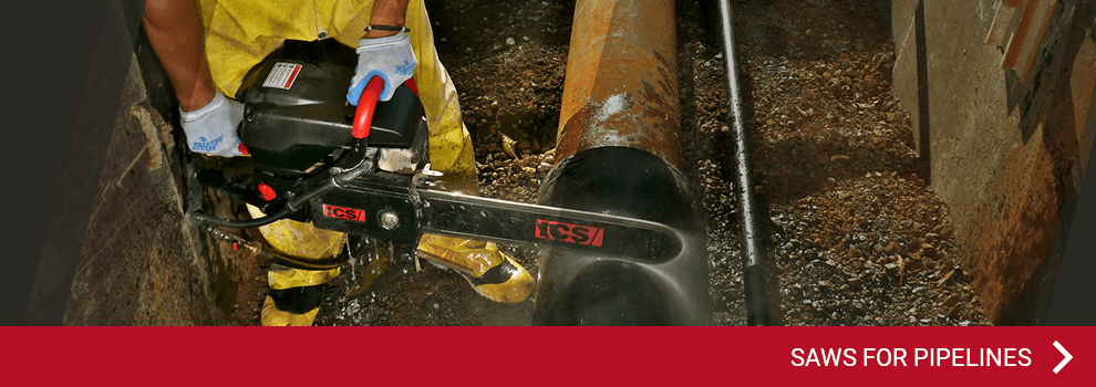 PowerGrit® - saws for pipelines