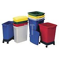 Abfall-/Wertstoffsammler 90l rot Ku.L510xB485xH600mm