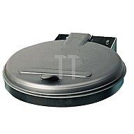 VAR Abfallsammler f.120l verz. 400x510mm Ku.-Deckel silber Einwurf-D.350mm 1091