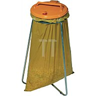 Werth Abfallsammler stationär Deckel rund gelb für 1x120l Säcke AS2009