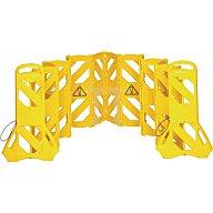 NWL Absperrung 16 Elemente H1000xB600xT350mm gelb Polyethylen Gesamtlänge 4 m FG9S1100YEL