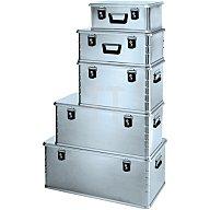 Zarges Aluminiumbox Midi 81l 800x400x300mm m.Dichtung Federfallgriff 40862