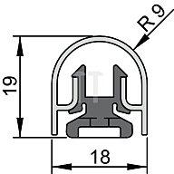 ATHMER Bandseiten-Schutzprofil BU-18K L. 1355mm f. Banddurchmesser 18mm Profil 5-421-1355