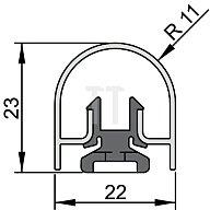 ATHMER Bandseiten-Schutzprofil BU-22K Länge 1355mm für Banddurchmesser 22mm Profil 5-394-1355