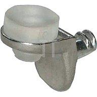 BMB Bodenträger für 5mm Lochreihe Glasböden Zamak vernickelt mit Weich-PVC-Auflage 4301551