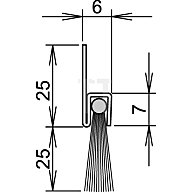 ATHMER Bürstentürdichtung FA25-6 Nr. 4-310-025 L.1100mm verzinkt Rosshaarbesatz 4-310-025-1100
