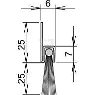 ATHMER Bürstentürdichtung FA25-6 Nr.4-310-025 L.2000mm verzinkt Rosshaarbesatz 4-310-025-2000