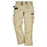 FRISTADS KANSAS Bundhose Zipp-off Gr.48 khaki 330g/m2 65%PES/35%CO FRISTADS 100545-210-C48