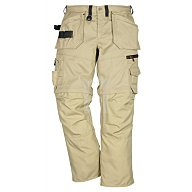 FRISTADS KANSAS Bundhose Zipp-off Gr.50 khaki 330g/m2 65%PES/35%CO FRISTADS 100545-210-C50