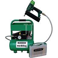 Druckluftnagler Workline 100-Set-J Nagler 2XR-J50/Kompressor/Nagelbox (8000St)/S