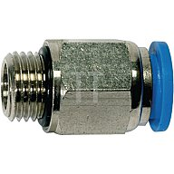 Riegler Einschraubsteckverbinder G1/8Zoll A Außen-D.8mm gerade 122.018-8