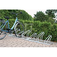 Fahrrad-Bügelparker 3er 1seitig Radabstand 350mm