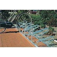 WSM Fahrradbügelparker 8er 90Grad L.2950mm 1seitig f.B.42-43mm z.Aufschrauben 105700005