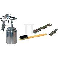 Pro Sales Farbspritzpistole Druckluft 2-3bar/Edelstahldüse 1,8mm/Saugbecher/m.Koffer 160123M