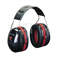 Gehörschutz Optime lll Kapseln schwarz/rot doppelte Schale 3M H540A