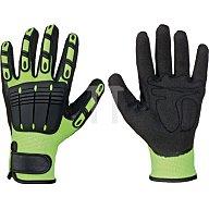 Feldtmann Handschuh EN 420 Kat.I Resistant Gr.10 Vinyl leuchtend gelb/schwarz 0881-10