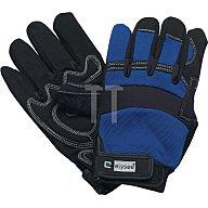 NORDWEST Handschuhe EN388 Kat. II Mechanical Master Gr.10 schwarz/blau Klettverschluss
