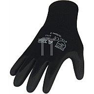 NORDWEST Handschuhe PU Gr.9 schwarz Nylon Feinstrick m.Strickbund