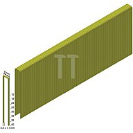 PREBENA Heftklammern ES32CNKHA 0,8x1,1mm/6,0x32mm verzinkt/geharzt
