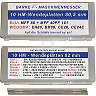 B.M. HM-Hobelwendemesser L.80,5mm Barke 450221805
