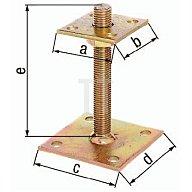 GAH I-Pfostenträger ETA-10/0210 70x70x100x100x150mm Stahl roh galv. gelb verz. 218102