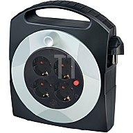 Brennenstuhl Kabelbox Ku. Kabel-L.15m 4xSchuko rot-sw H05VV-F 3x1,5mm2 m.Thermoschutz 1 09420 0