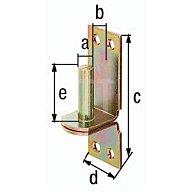 Kloben auf Platte Ø13x11x100x35x40mm Stahl roh galv. gelb verz. DI-Haken GAH 311230
