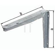 Konsole 300x550mm Stahl roh feuerZN a. T-Profil GAH 800819