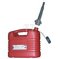 Kraftstoffkanister 10l rot HDPE PRESSOL m.Auslaufrohr