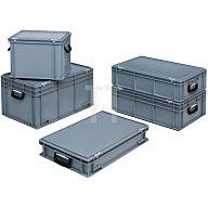 Kunststoffkoffer 70l PP m.2Griffen L600xB400xH353mm grau stapelbar