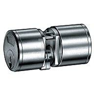BKS Kurzzylinder nach DIN 18252 3177 L.A 25mm L.B 25mm Gesamt 64mm massiv Ms.matt B 3177 0115