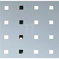Lochplatte L.495xB.457mm lichtgrau RAL 7035 Bott 14025115.16