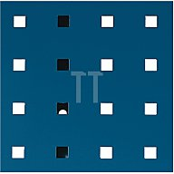 Lochplatte L.991xB.457mm enzianblau RAL 5010 Bott 14025117.11