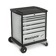 Matador VARIO Werkstattwagen leer 6 Schubladen Silber 8164 0001