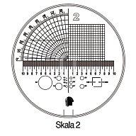 Messskala Tech-Line Skala-D.25/2,5mm Duo-Skala 2