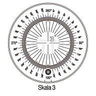 Messskala Tech-Line Skala-D.25/2,5mm Duo-Skala 3