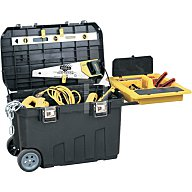Mobile Montagebox 77 x 49 x 48 90 Liter Stauraum Vollgummiräder Stanley 1-92-978