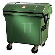 SULO Müllgroßbehälter 1,1m3 Ku.grün 65kg 4Lenkrollen feststellb. 2001483