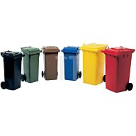 Müllgroßbehälter 80l braun a.Niederdruck-PE Rad-D.200mm