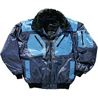 Pilotenjacke Gr.XXL marine/kornblau 50% Polyester/ 50% Baumwolle