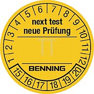 Prüfplakette f.Prüfgerät 300St./VE BENNING 756212