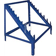 NORDWEST Regalelement Gewindestangenaufsatz LOGS 60 H600xB540xT390mm Blau RAL 5022