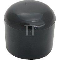 GPE Rohrkappe für Rundrohr für Rohraußen-D. 43-44mm PVC schwarz zum Überstecken K 43 S