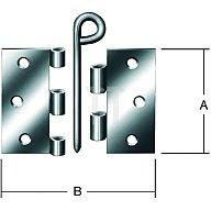 Scharnier Breite geöffnet 75mm Höhe 75mm Stärke 1,9mm käntig