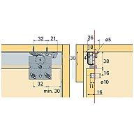 Hettich Schiebetürbeschlag Top Line 27 / 026083 3-türig Türbreite ab 500mm