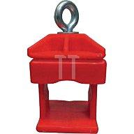 Schake Schilderklemme, Kunststoff rot, für Rundrohr 42mm und Vierkantrohr 40 x 40mm 31313